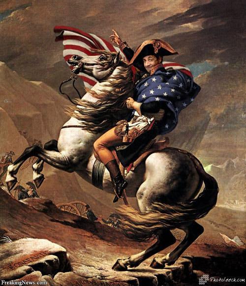 Sarkozy in Washington deciding the fate of America