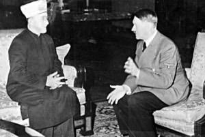 The Mufti of Jerusalem meeting with Hitler in 1941. (Wikimedia Commons.)