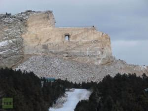 A sacred Native American mountain in South Dakota, which was destroyed to create a privately owned museum about the great indigenous Chiefs.