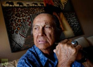 Russell Means at his home in Scottsdale, Arizona, October 28, 2011.