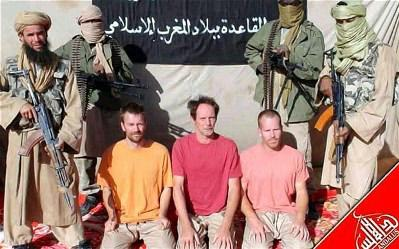 Members of Al-Qaeda in Mali, holding British hostages.