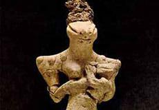 Ancient Sumerian terracotta figurine with lizard-shaped face (ca. 4000 BCE) discovered in modern day Iraq. Is this a depiction of the Anunnaki colonists?