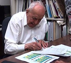 Franz Halberg in 2012, aged 93.