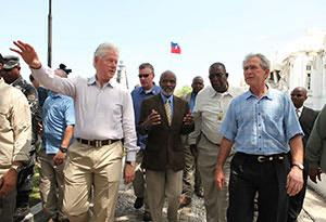 Clinton and Bush — they care so much about downtrodden humanity.