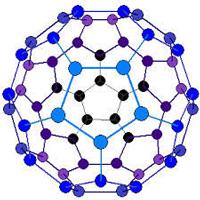 The Buckminsterfullerene (also known as the buckyball).