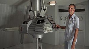 Scaramanga's Directed Solar Energy Weapon in the 1974 film, The Man With the Golden Gun. Image imfdb.org