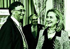 Hillary and Bill … Gates